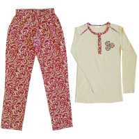 Women's pajamas set with long sleeves